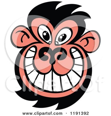 royalty free (rf) monkey face clipart, illustrations