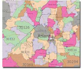 atlanta zip code map city of atlanta what s inside and what s outside the city