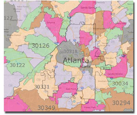 City Of Atlanta Zip Code Map | city of atlanta what s inside and what s outside the city
