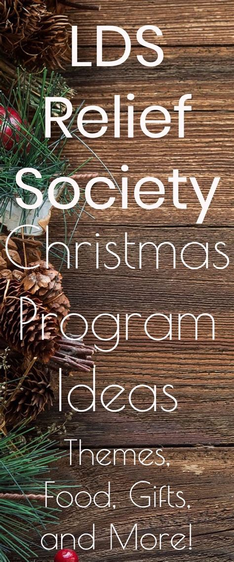 lds christmas party program ideas best 25 relief society ideas on relief society activities ward activity