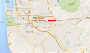 map of california and mexico border otay mesa california tijuana baja california border