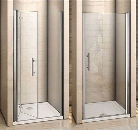 Folding Glass Shower Door Aica Frameless Pivot Bi Fold Shower Door Enclosure Glass Screen 700 760 800 900 Ebay
