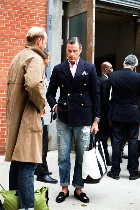 The Time Jean Stubbs breasted jacket done right with the obligatory stubbs wootton slippers tres chic