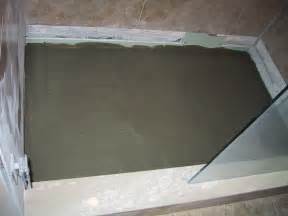 concrete shower floor