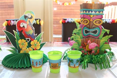 Hawaiian Decorations Ideas by Hawaiian Luau With Desert Table And Chic