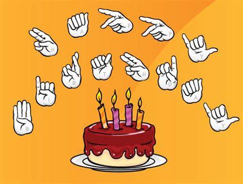 Happy Birthday Sign Language asl birthday cards sign language sign for happy birthday