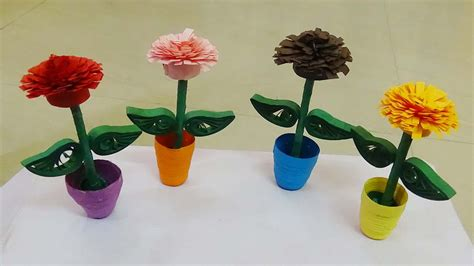 potted paper flower ideas quilling flower pot how to make a 3d quilling miniature flower pot paper quilling