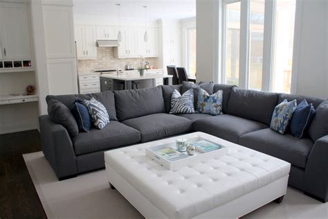 gray l shaped couch impressive ottoman tray in contemporary toronto with l