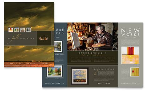 Gallery Brochure Template Art Gallery Artist Brochure Template Word Publisher