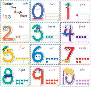 Playdough Templates by Printable Number Play Dough Mats Learning 4