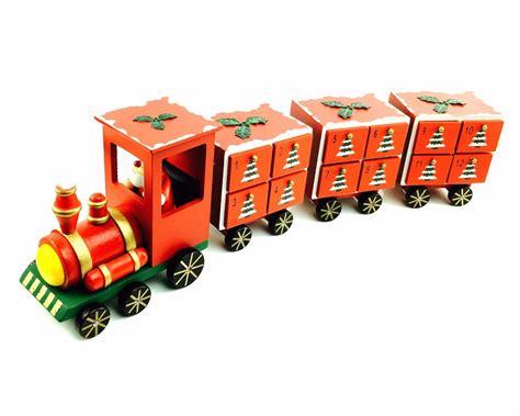 wooden santa advent calendar drawers christmas advent calendar wooden santa train with
