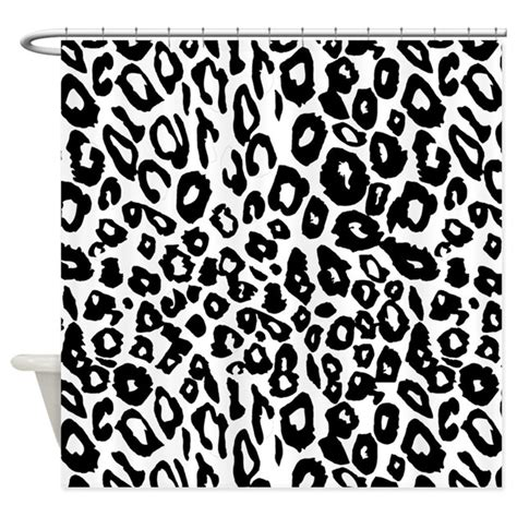 black and white print curtains black and white leopard print shower curtain by be