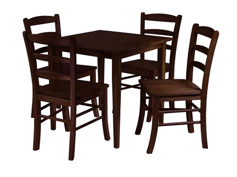 Dining Table And 4 Chairs Winsome Groveland 5pc Square Dining Table With 4 Chairs By Oj Commerce 94532 489 99