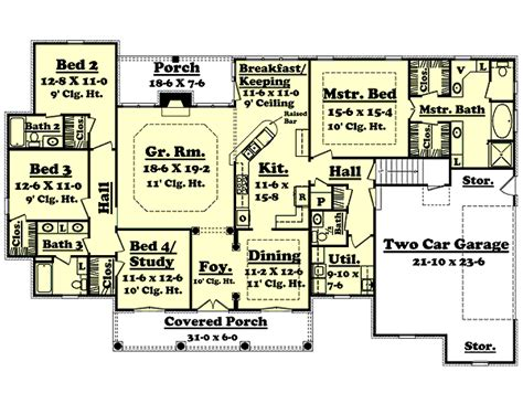 how big is 2500 square feet european style house plan 4 beds 3 50 baths 2500 sq ft