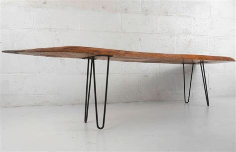 unique mid century modern free form tree slab coffee table
