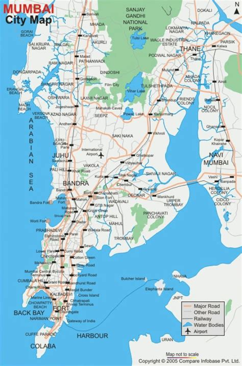 mumbai map map of mumbai free printable maps