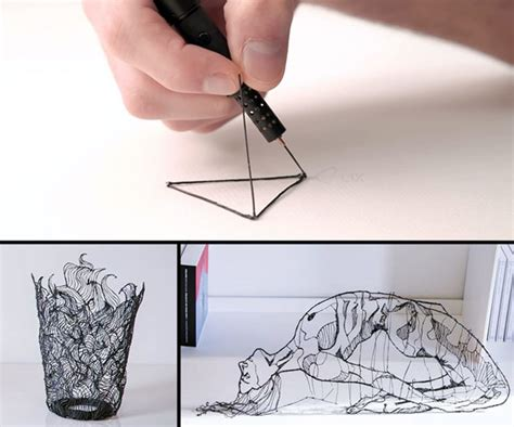3d printing pen turns doodles into sculptures lix 3d printing pen dudeiwantthat