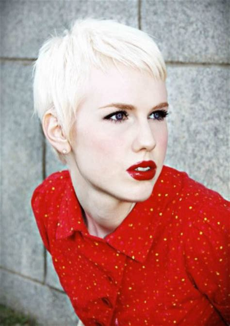 Platinum Blond Pixie | trendy pixie cuts for 2016 haircuts hairstyles 2017 and