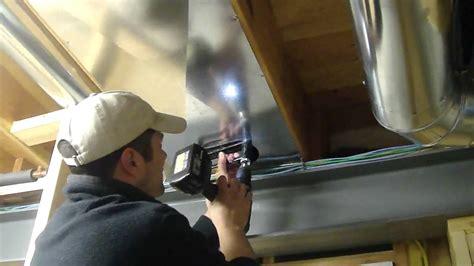 Kitchen Island Ventilation installing return air duct youtube