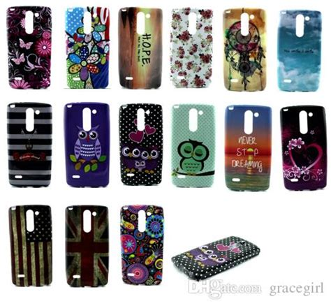 Lg G4 Flower Tpu Silicone Rubber Soft Casing Cover tpu soft butterfly flower dot floral owl