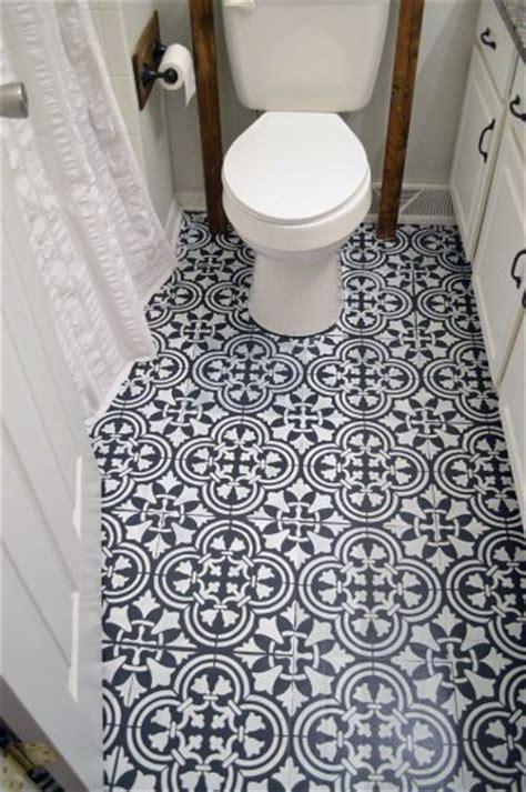 Stencil  Tile Pattern   Bathroom Floor
