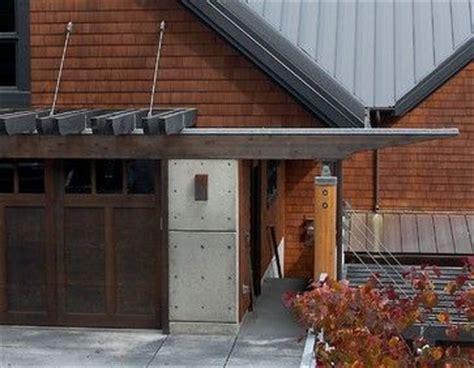 contemporary suspended trellis  garage detail  nelson aia designs northwest