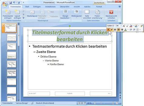 Powerpoint Design Vorlage Erstellen Powerpoint Folienmaster Corporate Identity Und Design Einheitlich