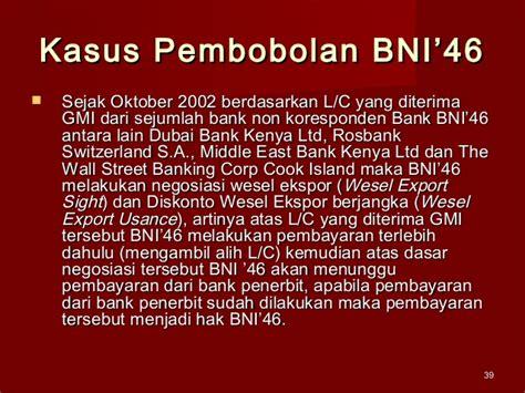 Kasus Letter Of Credit Fiktif Bank Bni Ekspor Impor Dengan Letter Of Credit