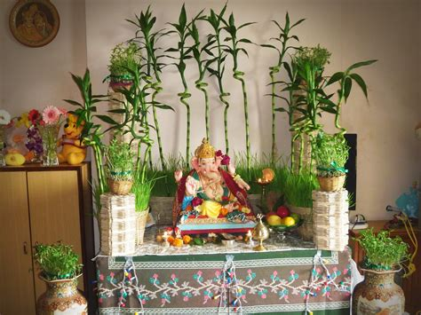 home temple decoration ganesh chaturthi decoration ideas for home