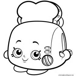 Pop Art Toaster Toasty Pop White Toaster Shopkins Season 2 Coloring Pages