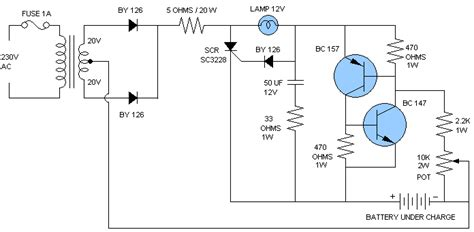car battery charger diagram schematic car battery charger schematic circuit in car charger and