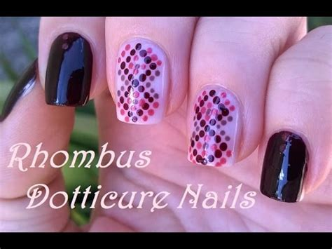 nail art tutorial with toothpick how to rhombus dotticure nails toothpick nail art