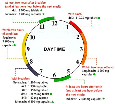printable turning schedule clock mastering combination therapy thebody com