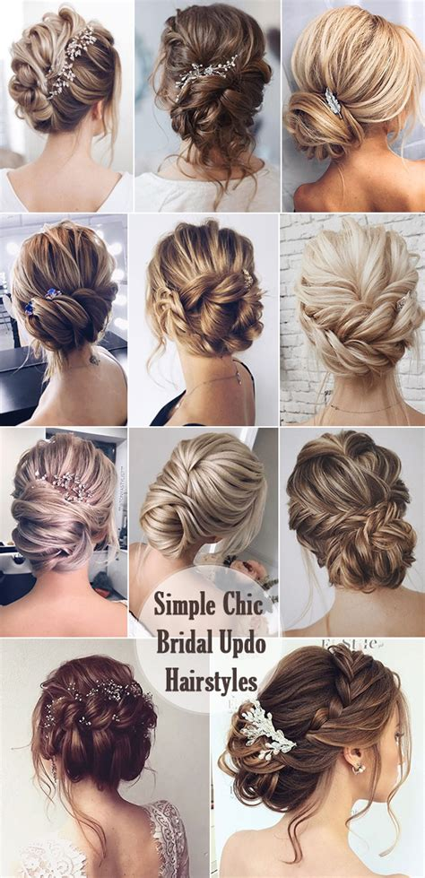 Wedding Updo Hairstyle Ideas by 25 Chic Updo Wedding Hairstyles For All Brides