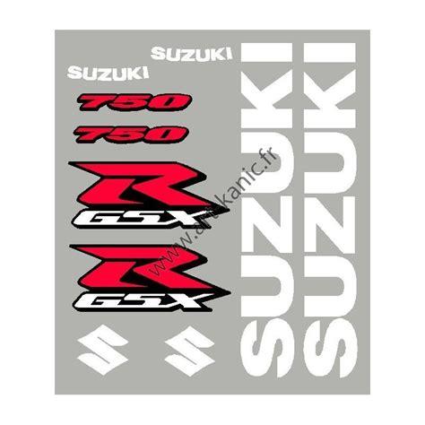 Sticker Suzuki Kit Sticker Autocollant Suzuki Gsxr 600 750 Ou 1000