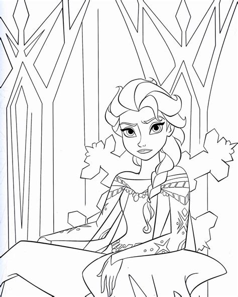 frozen cast coloring pages elsa coloring pages and elsa on