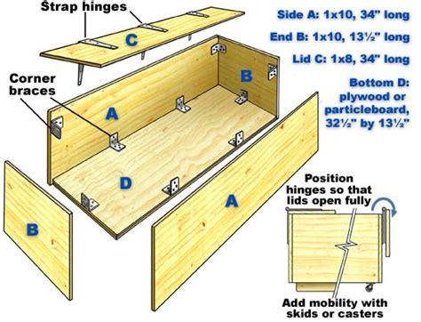 wood diy toy box plans blueprints  diy