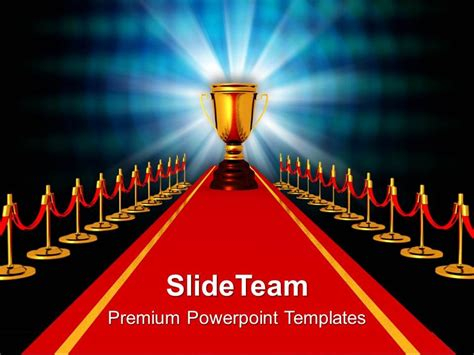 Award On Red Carpet Competiton Powerpoint Templates Ppt Awards Presentation Template