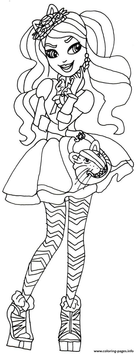 ever after high coloring pages that you can print kitty cheshire ever after high coloring pages printable