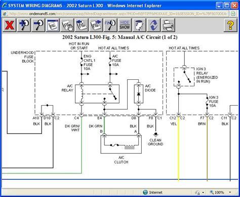 2002 l300 saturn wiring diagram 2002 saturn l300 owner s