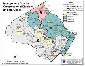 montgomery county zip code map images