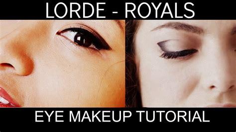 lorde makeup tutorial lorde royals inspired eye makeup tutorial youtube
