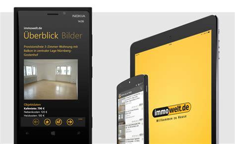 mobile wohnungssuche entwicklung der immowelt iphone und android app