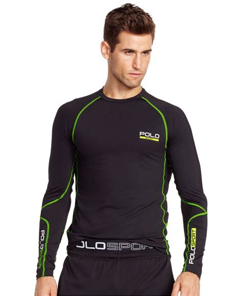polo ralph all sport compression shirt in black for