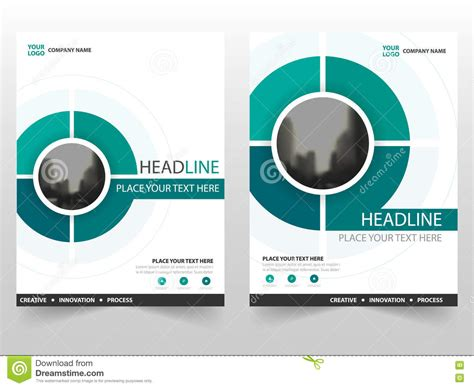 Circle Brochure Template by Green Circle Vector Annual Report Leaflet Brochure Flyer