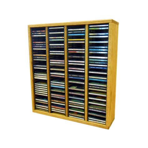 Solid Wood Cd Rack by Wood Shed Solid Oak Cd Rack 160 Cd Capacity Tws 409 2