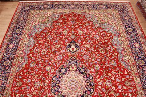 teppich perser teppich perser teppich quot kerman quot wollteppich 511x345 cm rot