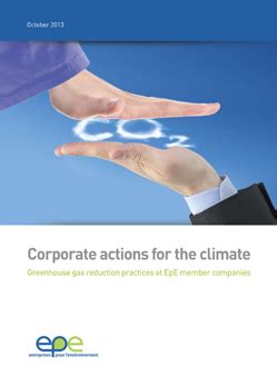 Corporate Actions by Corporate Actions For The Climate Greenhouse Gas Reduction Practices At Epe Member Companies