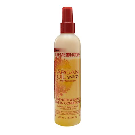 can you use argan oil after a perm creme of nature with argan oil strength and shine leave in