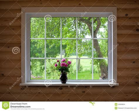 peony flowers  window sill stock images image